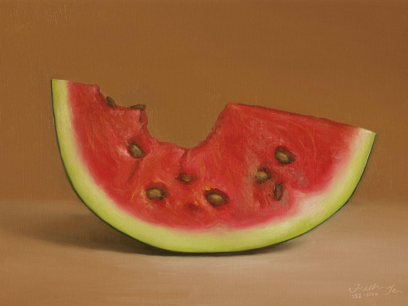 """Watermelon No. 2"" original fine art by Faith Te"