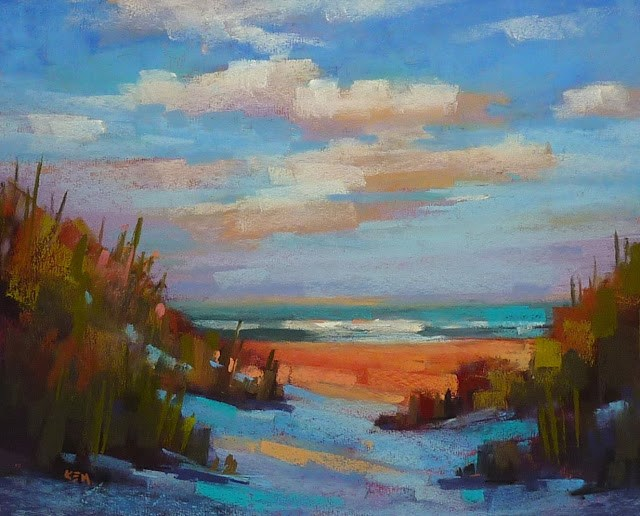 """""""'Renewed by the Sea'and 10 Reasons to Try Uart Paper"""" original fine art by Karen Margulis"""