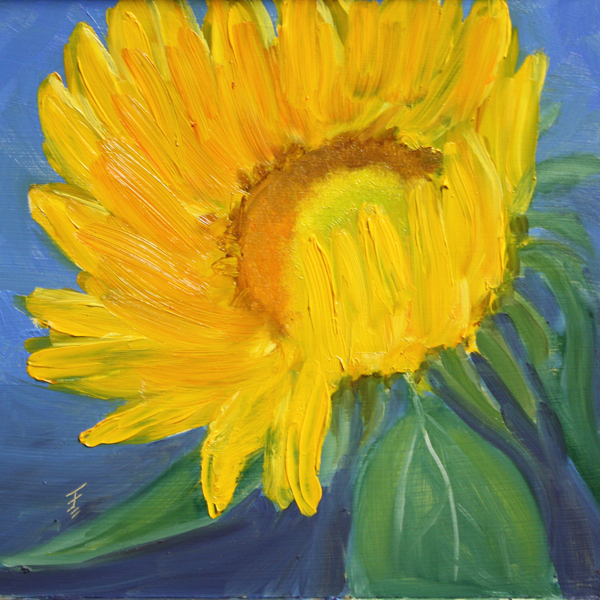 """Sunflower"" original fine art by Jane Frederick"