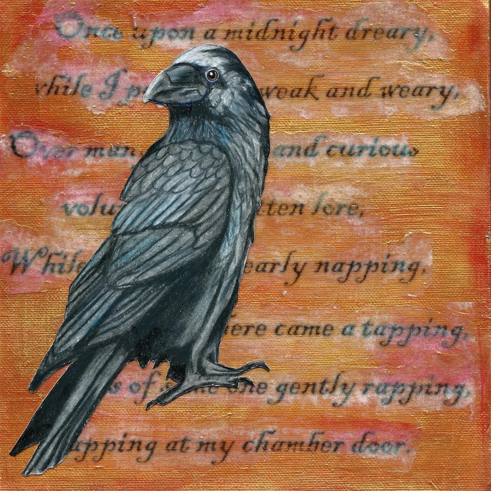 """""""Poe's Raven"""" original fine art by Lisa Wiertel"""