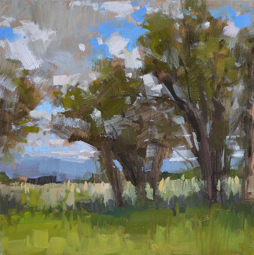 """Fenceline"" original fine art by Carol Marine"