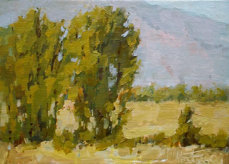 """Owens Valley Cottonwood III"" original fine art by Melanie Thompson"