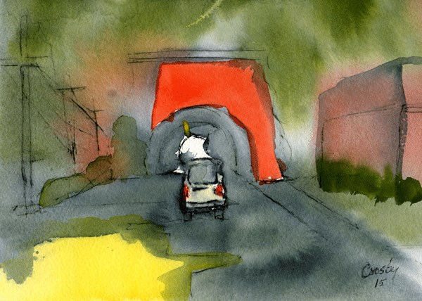 """The Tunnel"" original fine art by Donna Crosby"