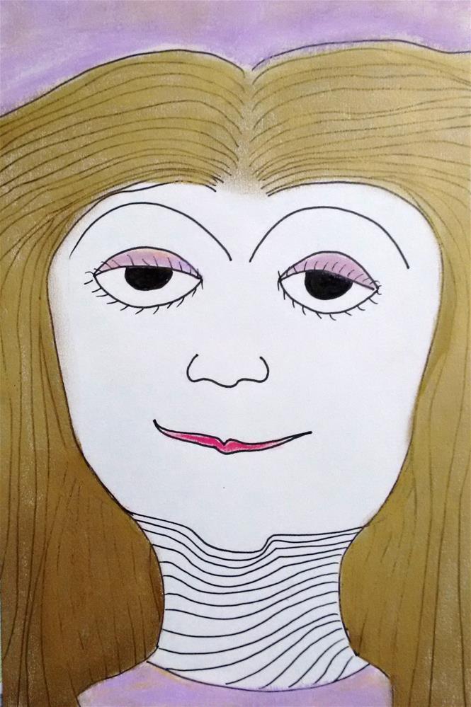"""""""Violett"""" original fine art by Adéla Svobodová"""