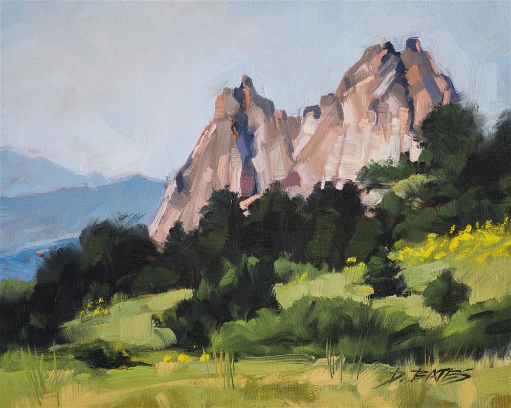 """Cathedral Rock"" original fine art by David Bates"