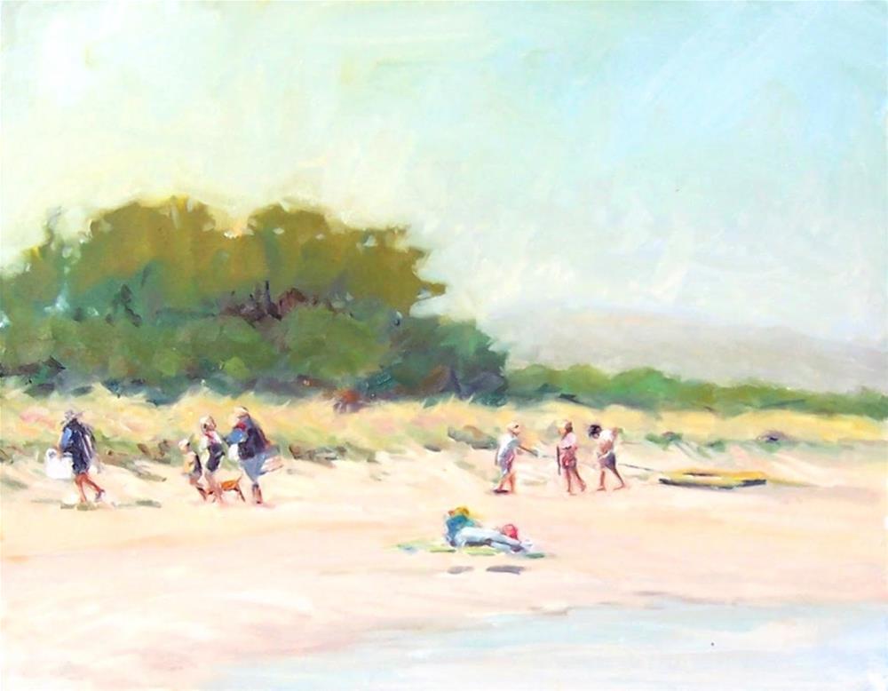 """End of the Day,landscape,oil on canvas18x20,priceNFS"" original fine art by Joy Olney"
