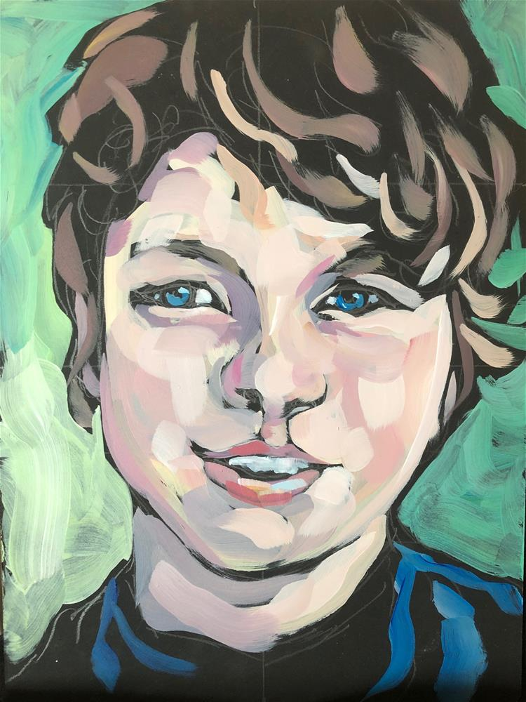 """Blue-Eyed Boy"" original fine art by Kat Corrigan"