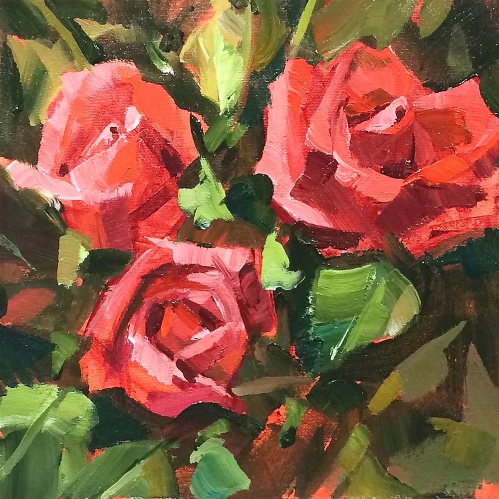 """Red Roses"" original fine art by Patti Mollica"