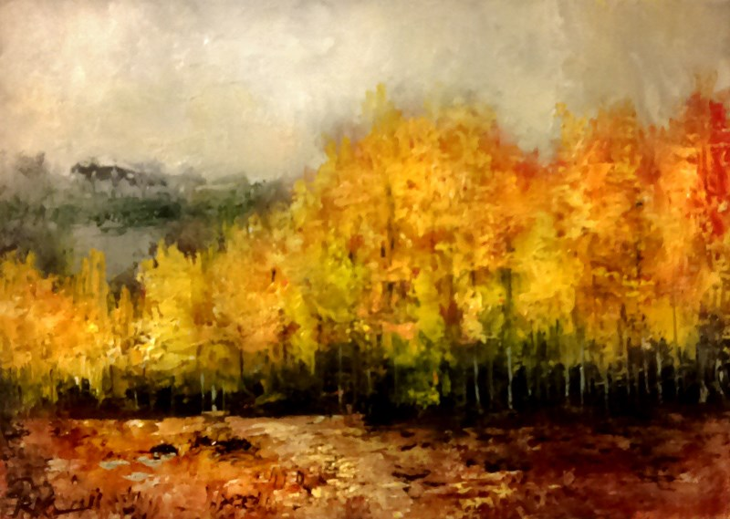 """A Trail to the Woods"" original fine art by Bob Kimball"