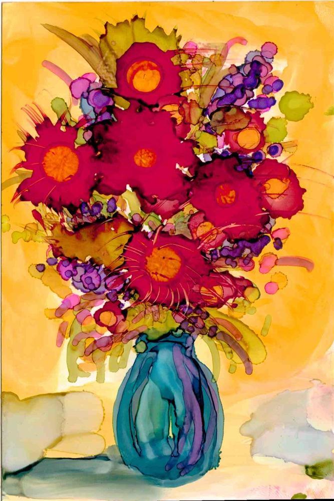 """""""Red Bouquet"""" original fine art by Kelly Alge"""