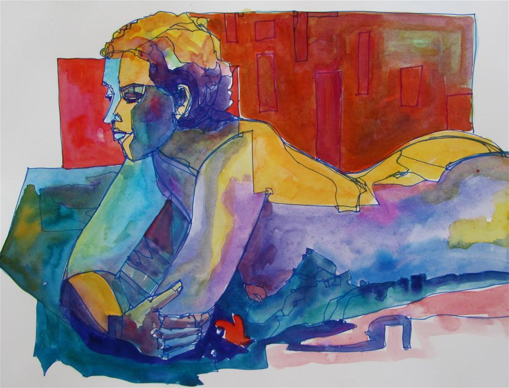 """Resting Figure"" original fine art by Patricia MacDonald"