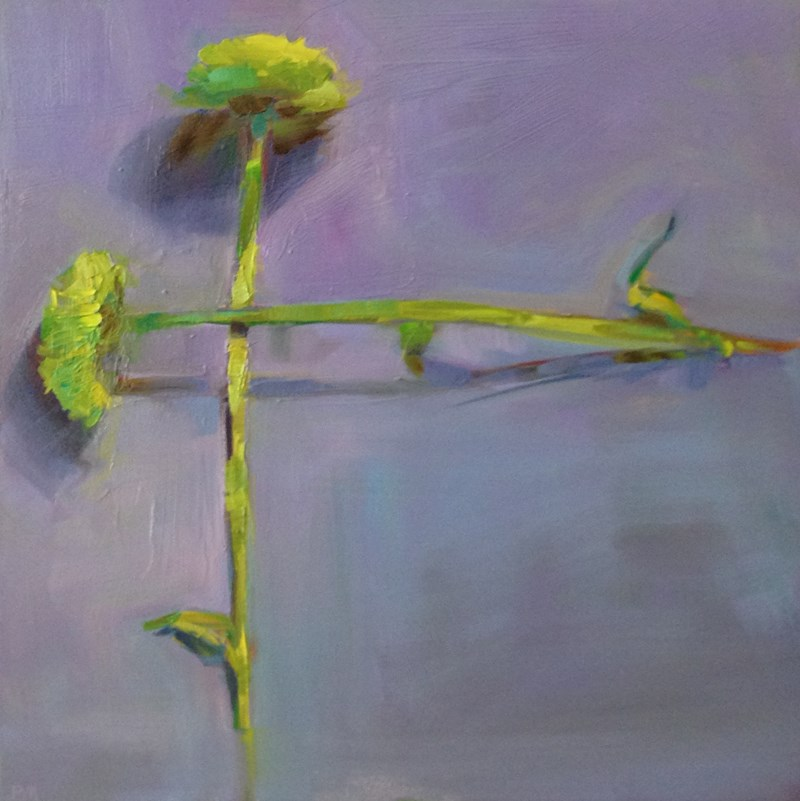 """Chrysanthemum Crossing"" original fine art by Patti McNutt"
