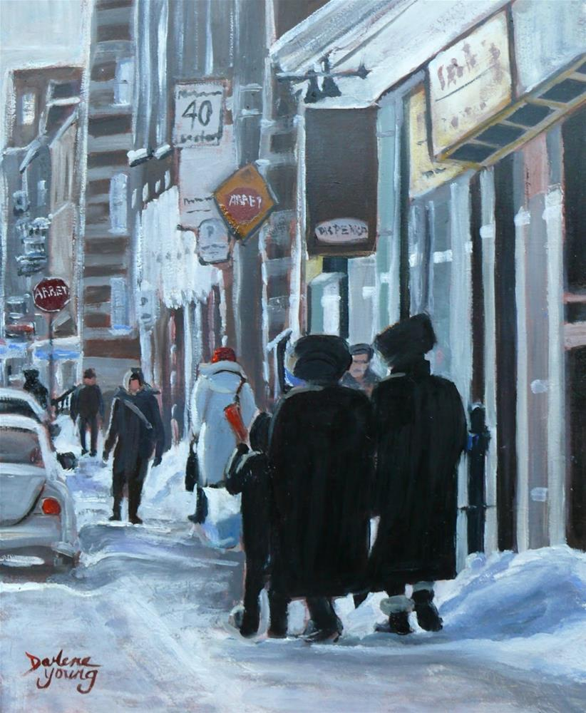 """""""1128 Montreal Scene, Outremont, 8x10, oil on board"""" original fine art by Darlene Young"""
