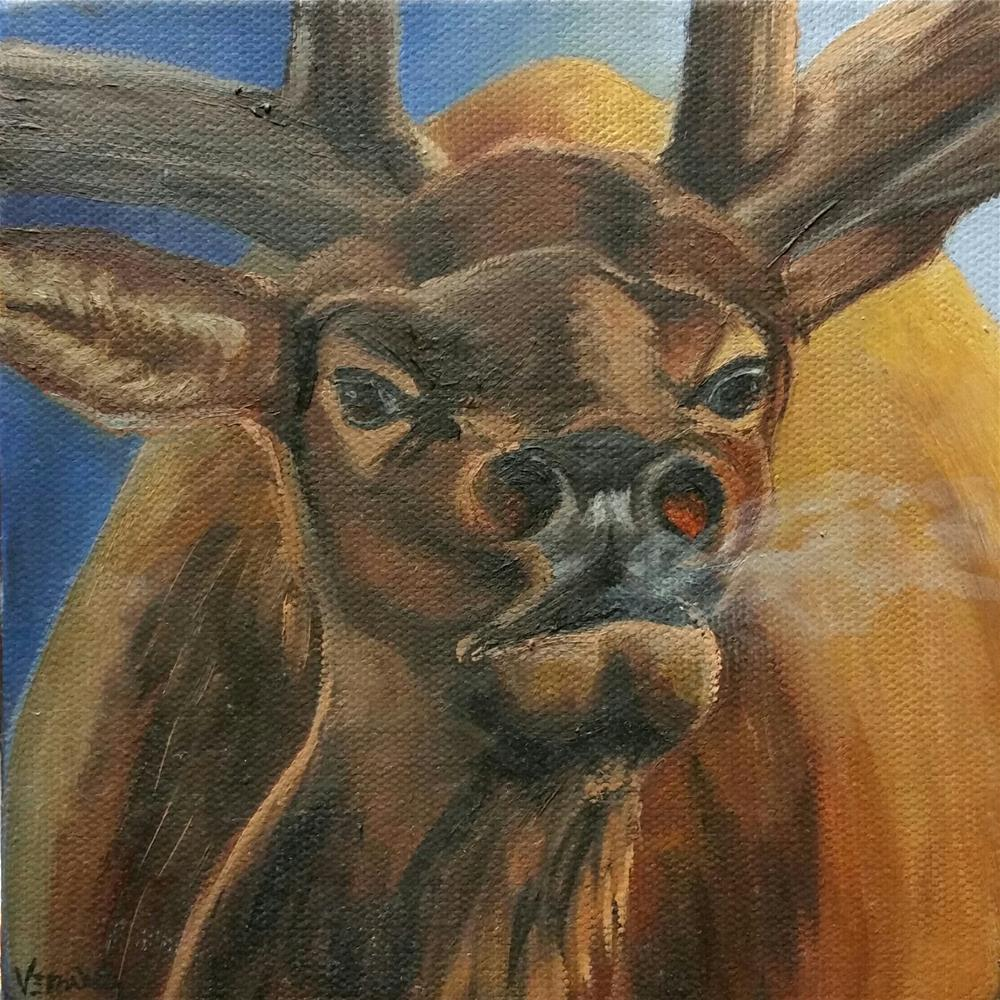 """Elk Bugle"" original fine art by Veronica Brown"