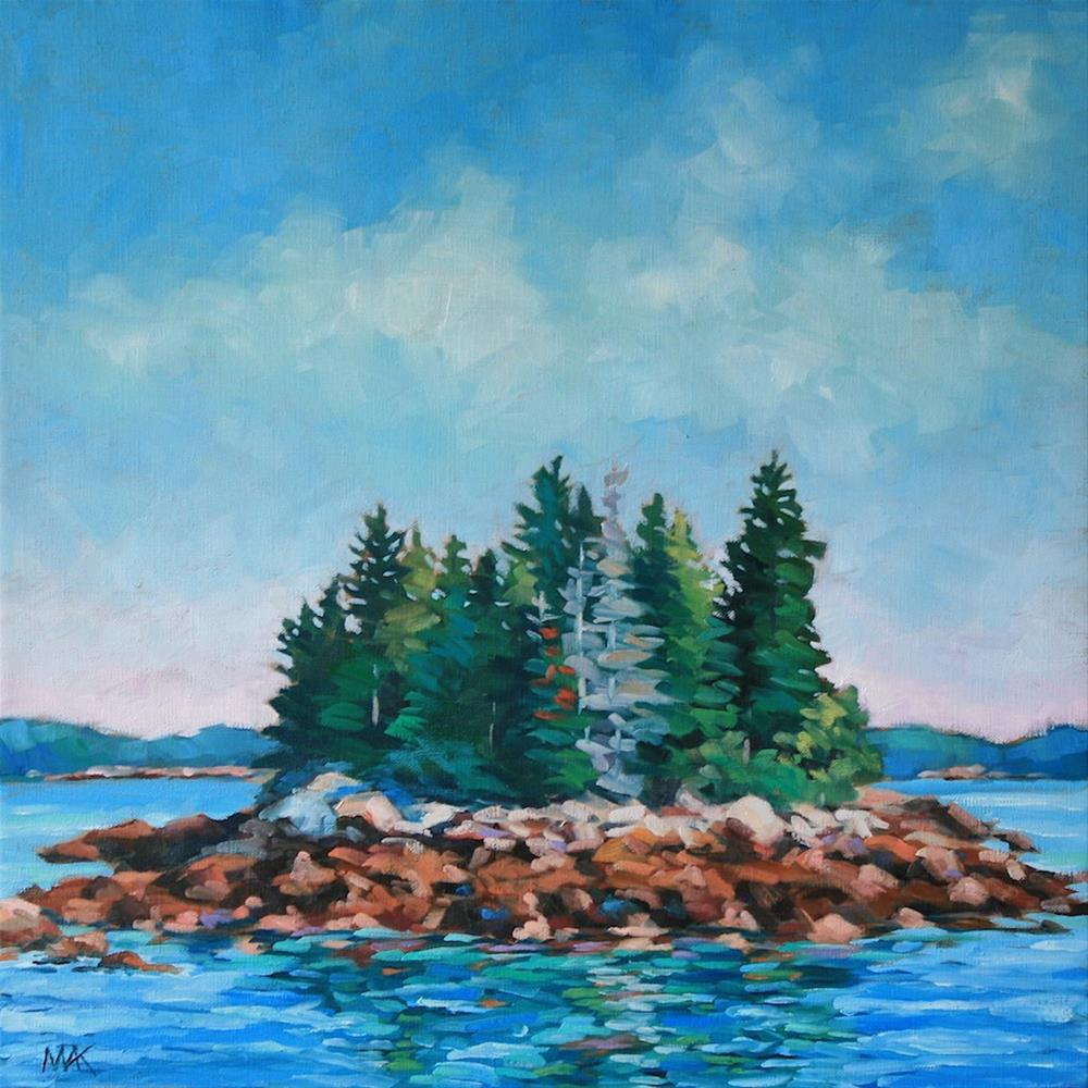"""Merrymeeting Bay"" original fine art by Mary Anne Cary"