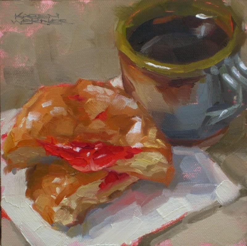 """""""Jelly & Coffee"""" original fine art by Karen Werner"""