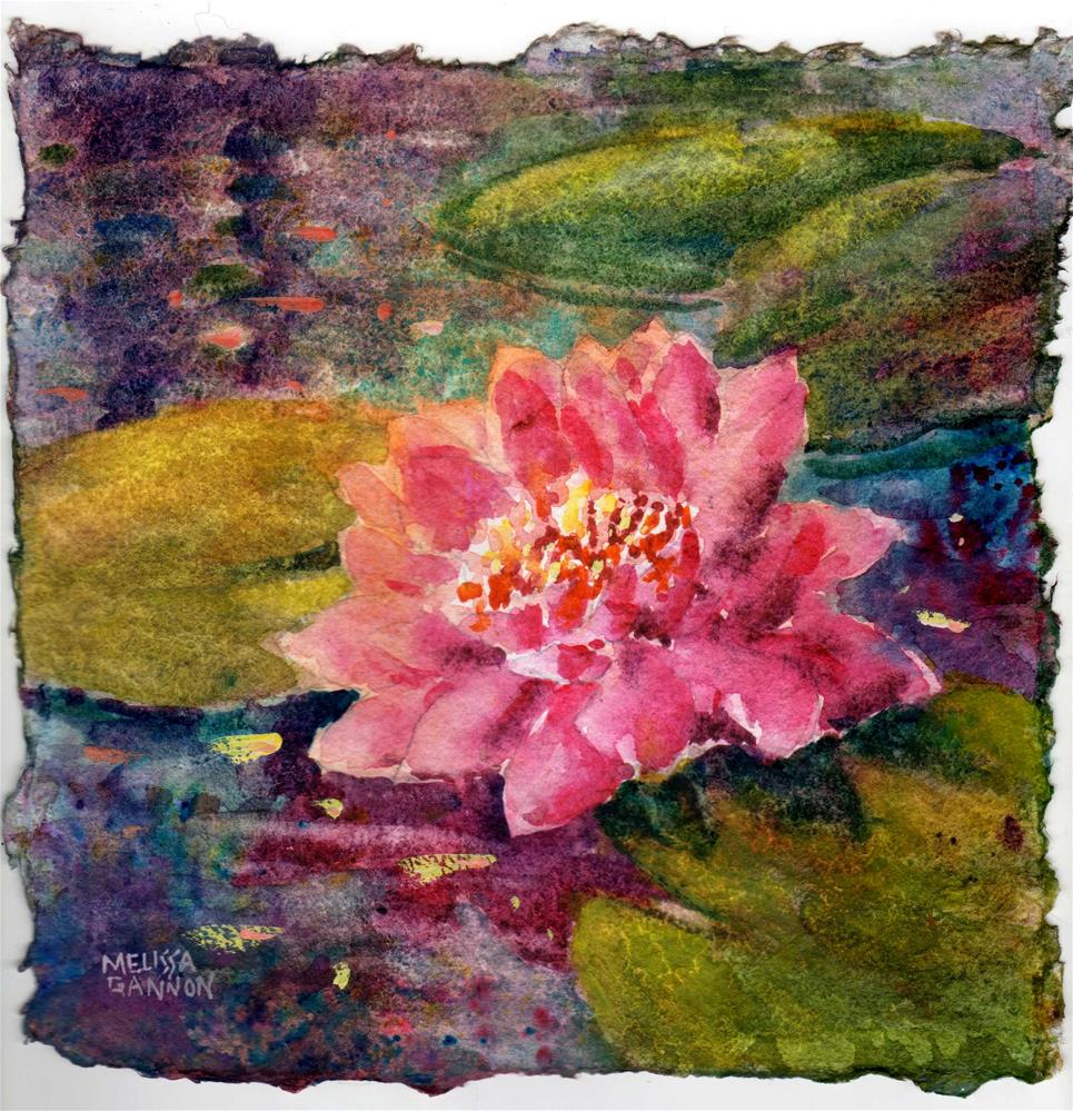 """Waterlily Sparkle"" original fine art by Melissa Gannon"