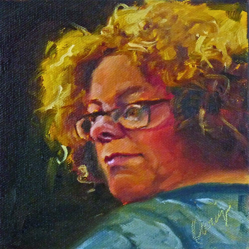 """""""Listen 3"""" original fine art by Sharman Owings"""