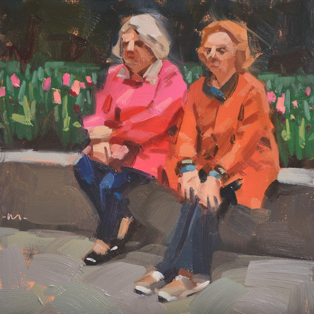 """Being Seen with Tulips"" original fine art by Carol Marine"
