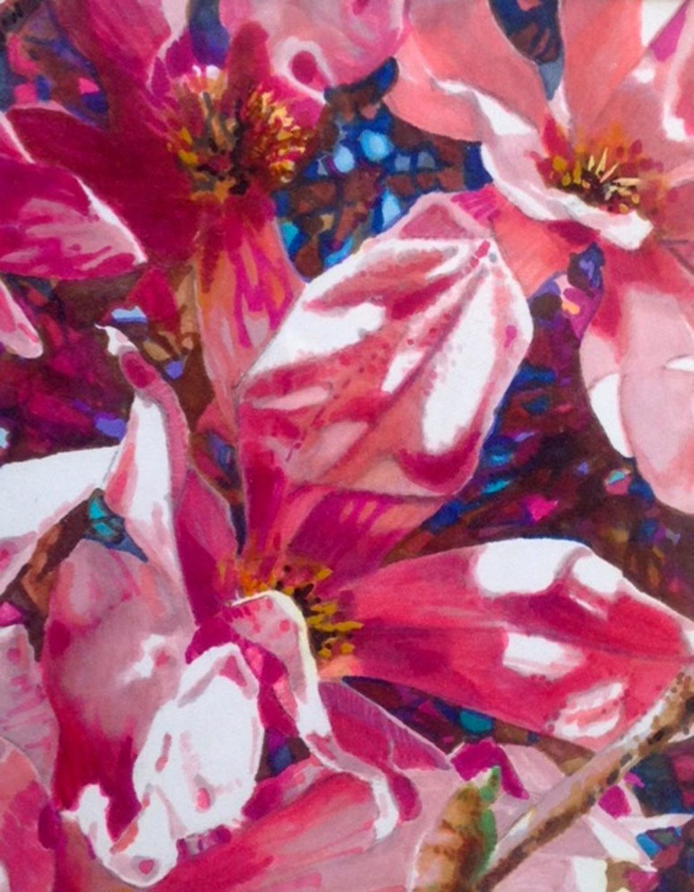 """Riot of Magnolias"" original fine art by Nancy Lasater"