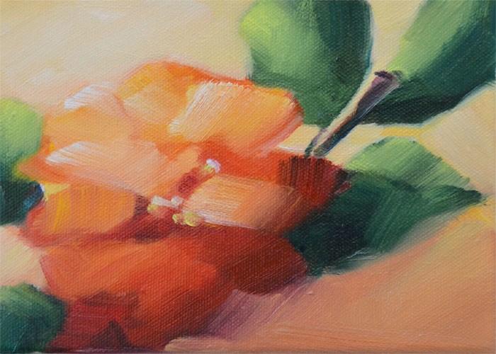 """Camellia Surprise"" original fine art by Cheryl Wilson"