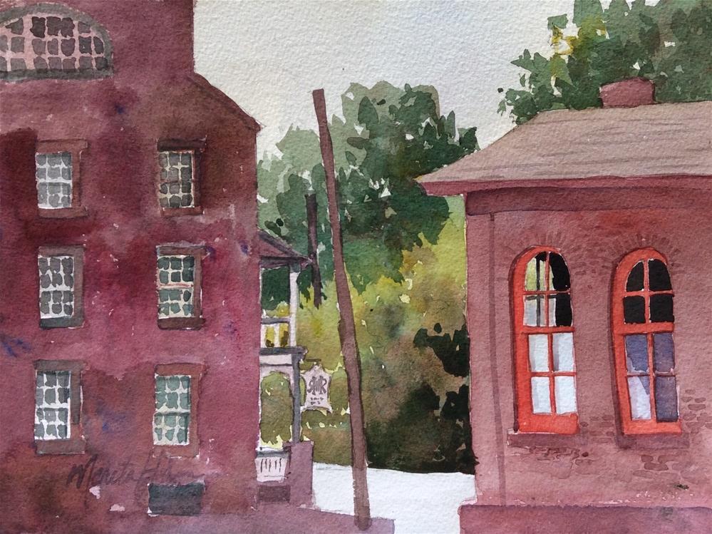 """Corner View"" original fine art by Marita Hines"