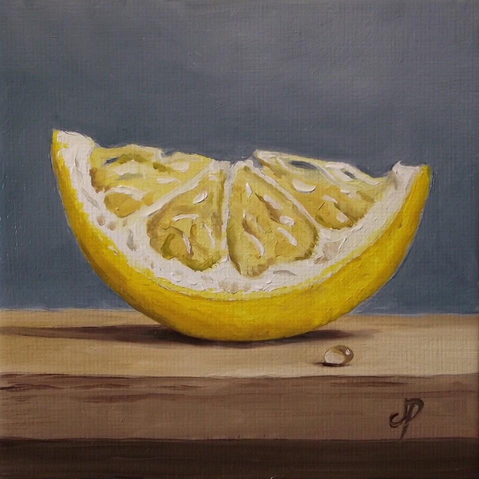 """Lemon wedge"" original fine art by Jane Palmer"