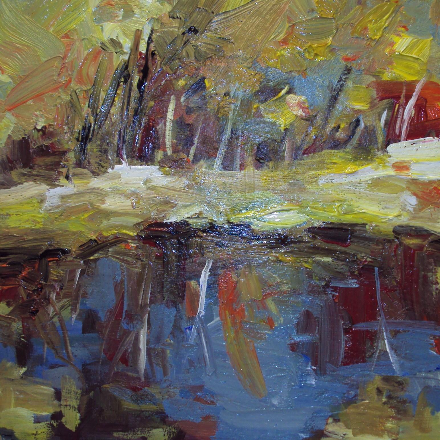 """reflections"" original fine art by Parastoo Ganjei"