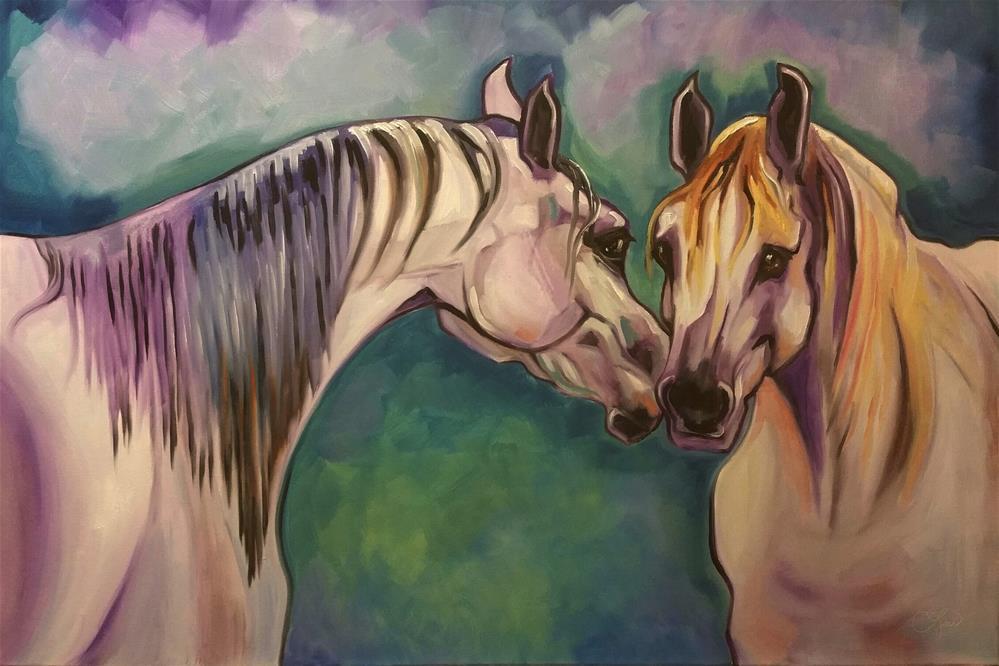 """The Greeting"" original fine art by Leni Tarleton"