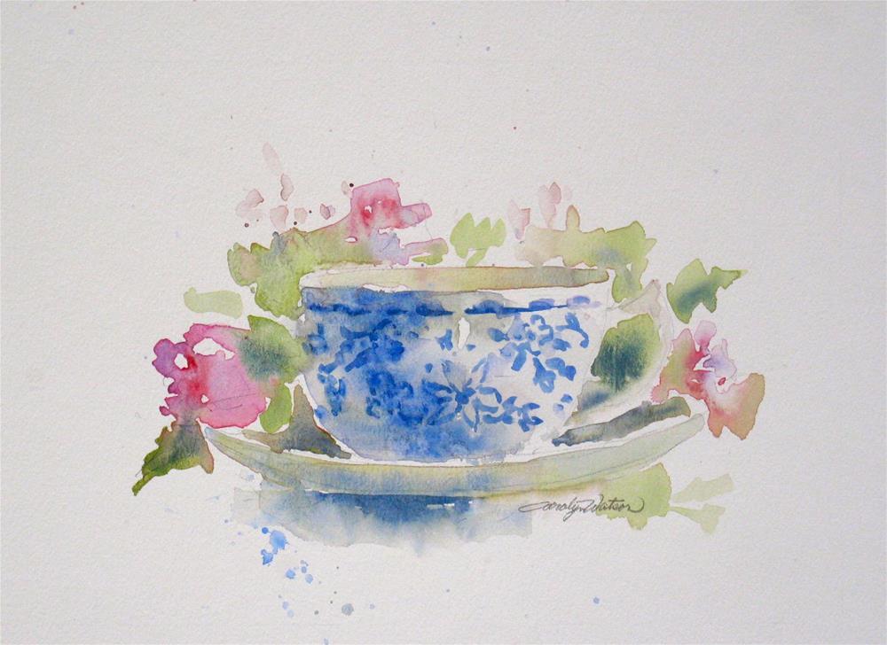 """""""Sweet Tea"""" original fine art by carolyn watson"""