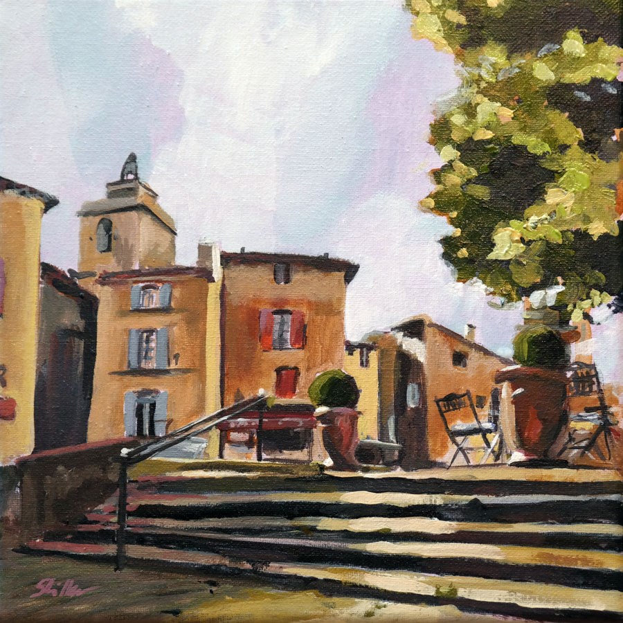 """1529 Stairs in Gordes"" original fine art by Dietmar Stiller"