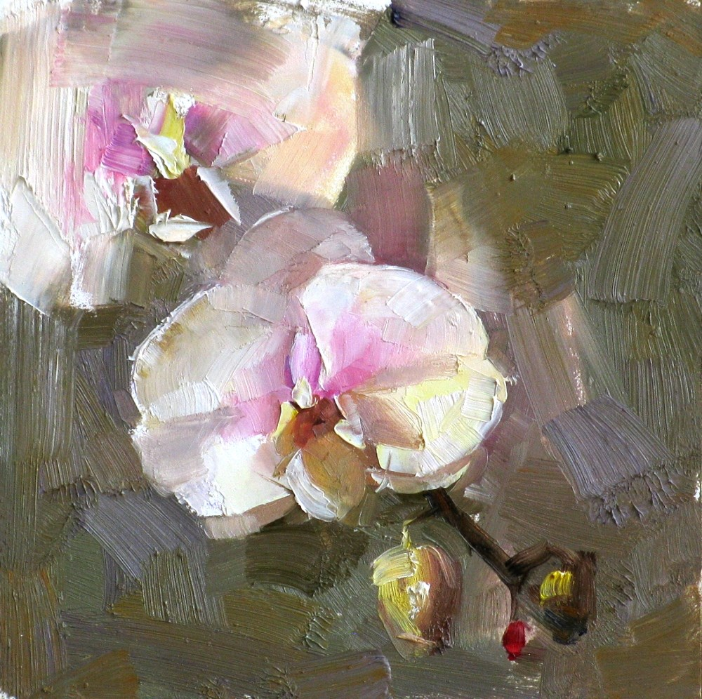 """Orchid Study 1"" original fine art by Qiang Huang"