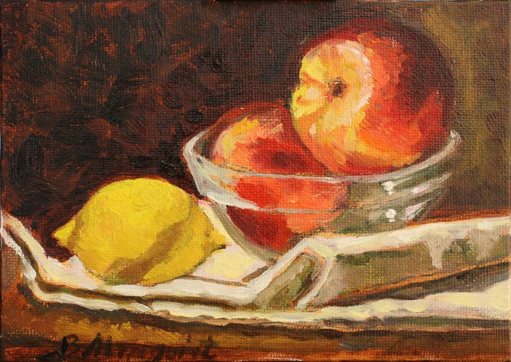 """Harmony In Peach And Yellow"" original fine art by Adriana B. Almquist"