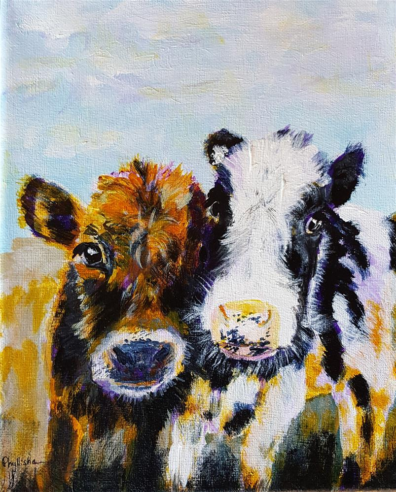 """Kit and Bertha"" original fine art by Phyllisha Hamrick"