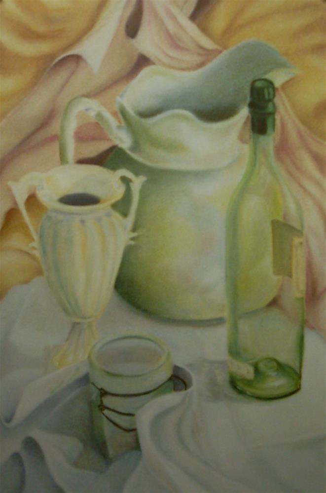 """White Pitcher"" original fine art by Karen Collins"
