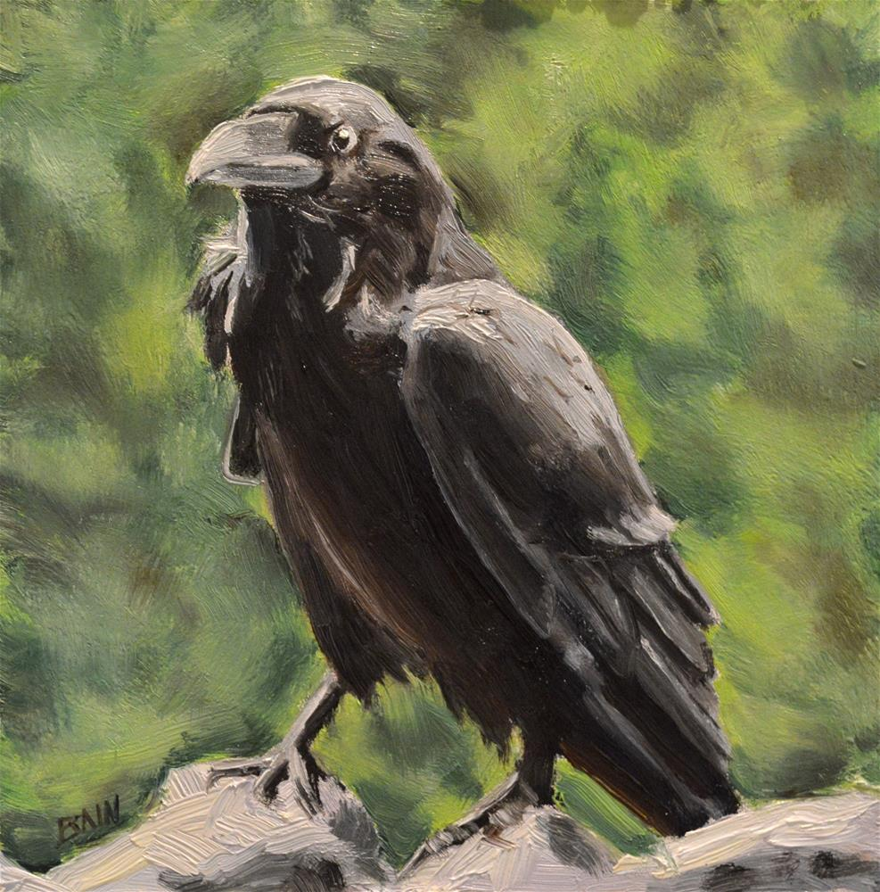 """Raven no. 5"" original fine art by Peter Bain"