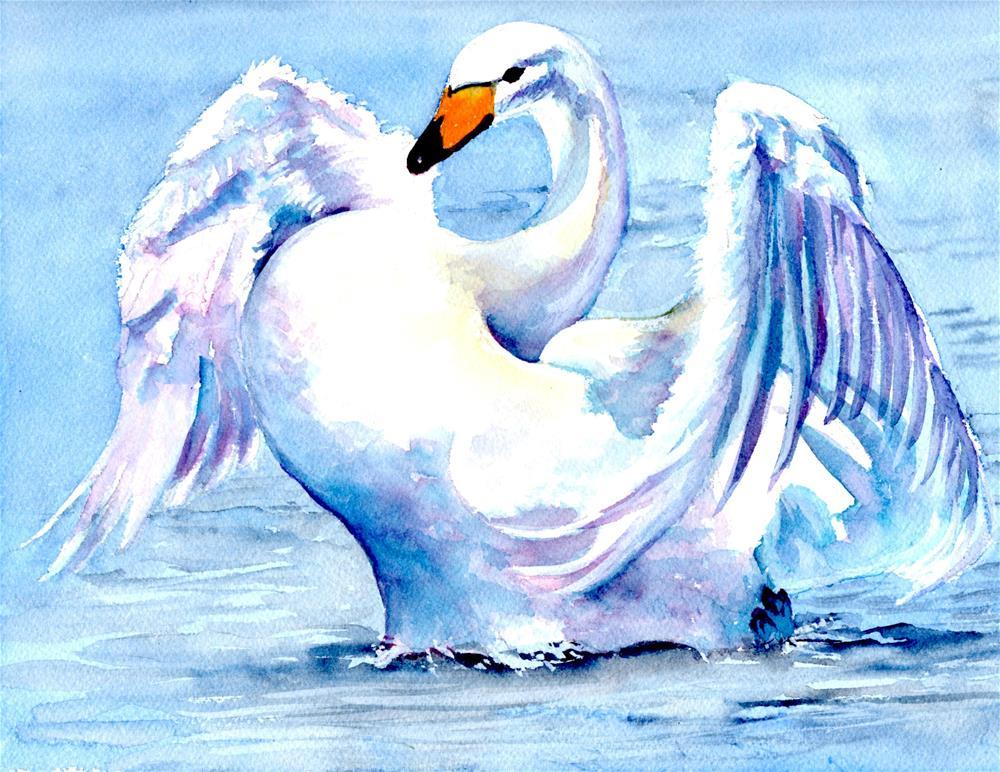 """""""Swan """" original fine art by Bunny Griffeth"""