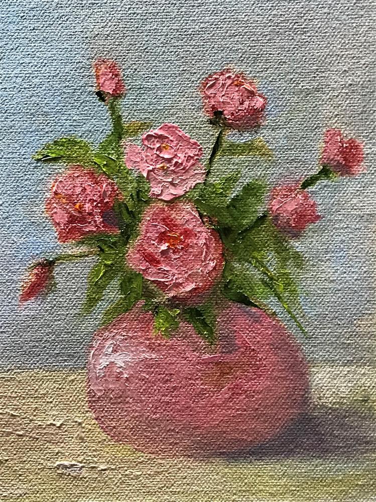 """""""pink vase"""" original fine art by Betty Argiros"""