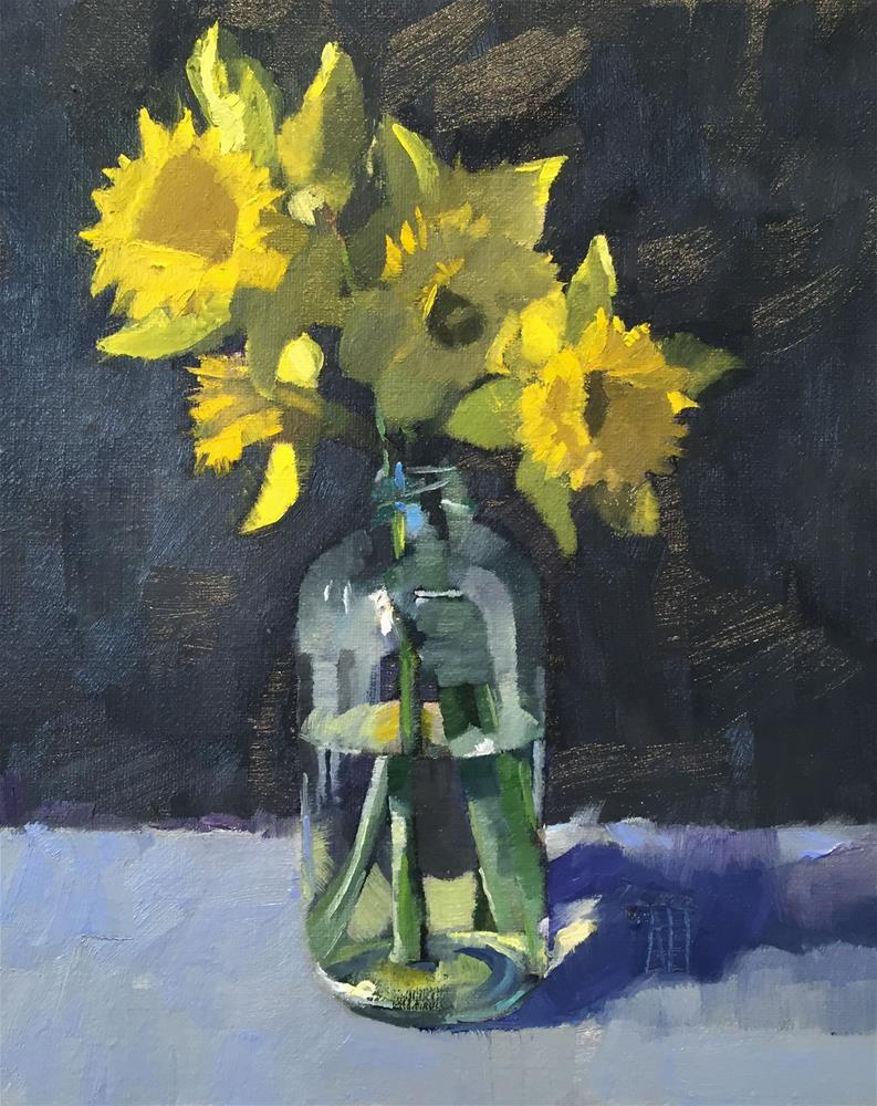 """daffodils 1"" original fine art by Amy Irwin Tank"