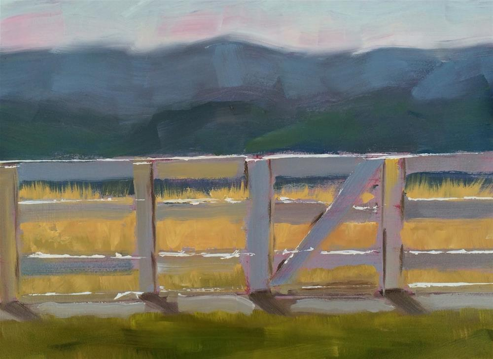 """Back Fence"" original fine art by Deborah Newman"
