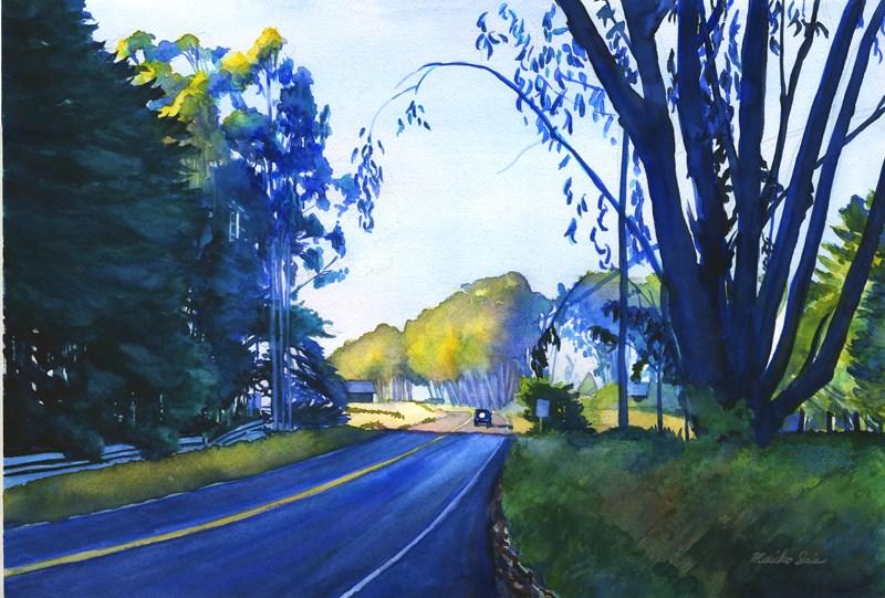 """Driving in the Sun"" original fine art by Mariko Irie"