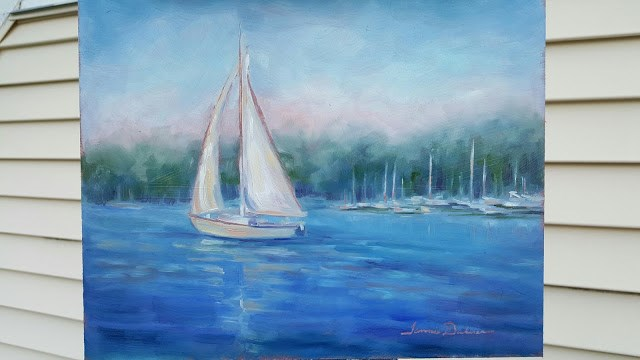 """Sailing from Ephraim"" original fine art by Tammie Dickerson"