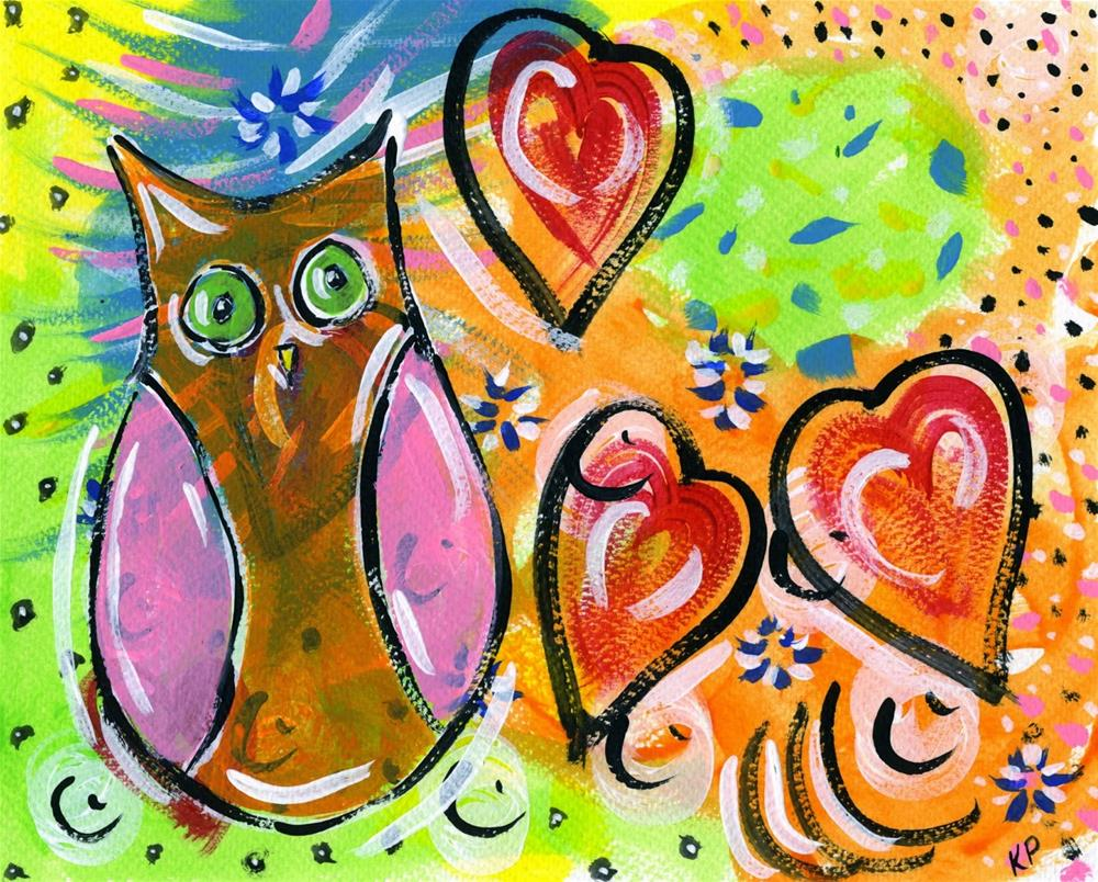 """Wisdom Love"" original fine art by Kali Parsons"