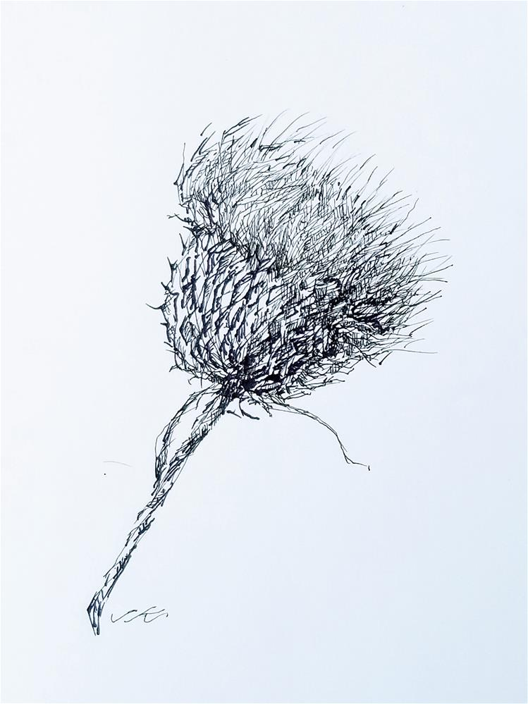 """Thistle"" original fine art by Jean Krueger"