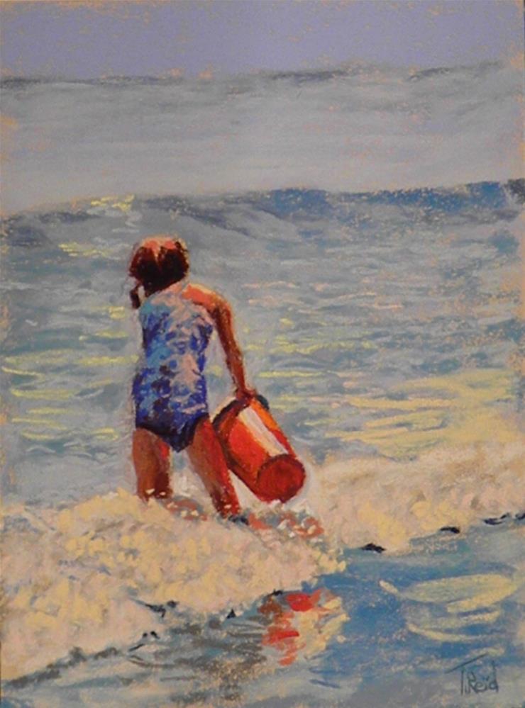 """Surf play"" original fine art by Toby Reid"