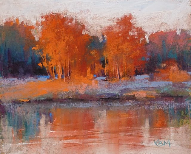 """Another Great Pastel Set for Autumn Colors"" original fine art by Karen Margulis"
