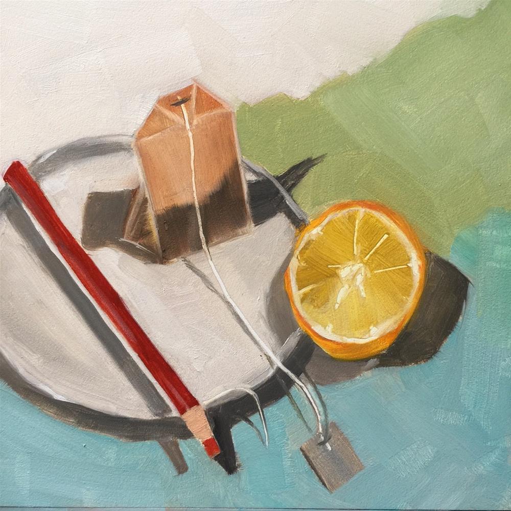 """214 Tea with Lemon"" original fine art by Jenny Doh"