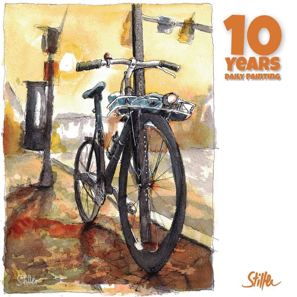 """""""3666 Good Bike"""" original fine art by Dietmar Stiller"""