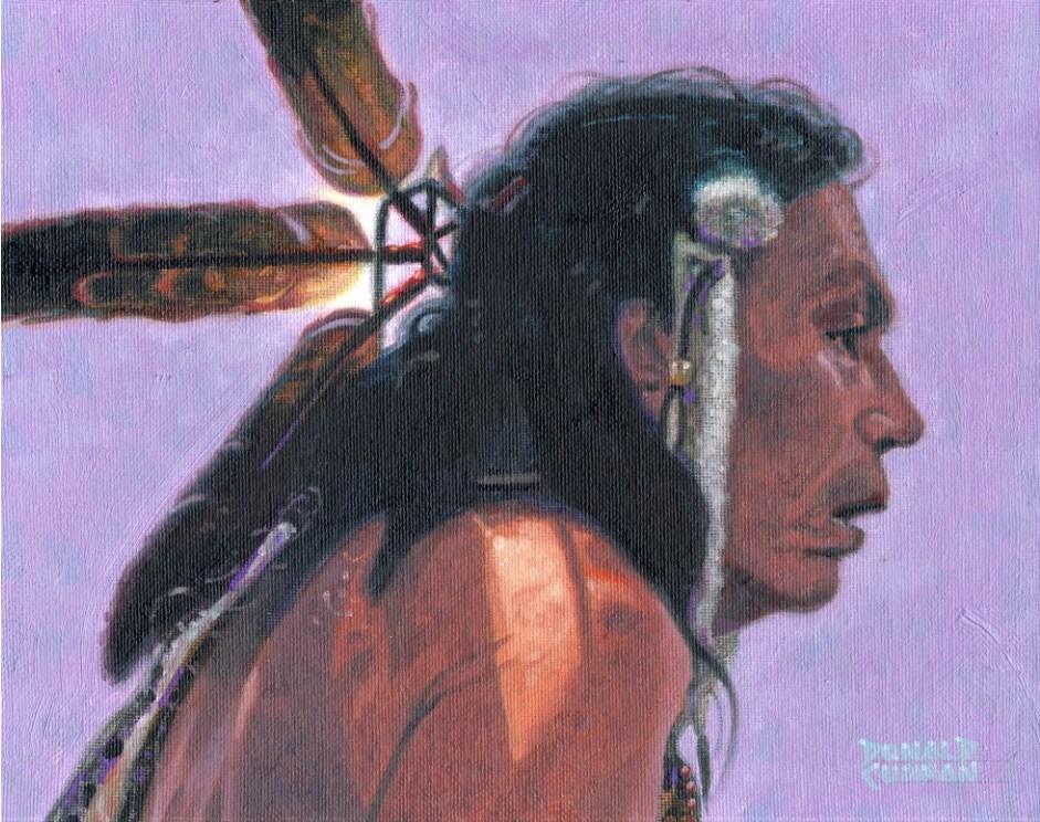 """Indian Brave"" original fine art by Donald Curran"