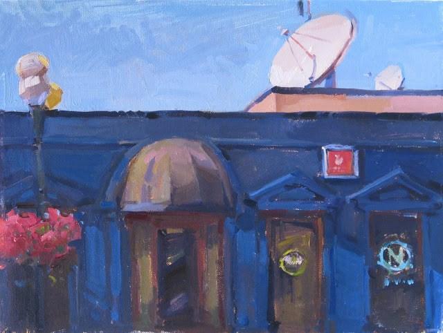 """Starlight, A New Cityscape"" original fine art by Sarah Sedwick"